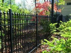 Picket Fence is a traditional accessory for any home. Aluminum picket fence modernizes this tradition! Custom Gates, Fence Styles, Aluminum Fence, Yard, Outdoor Structures, Traditional, Modern, Iron, Design