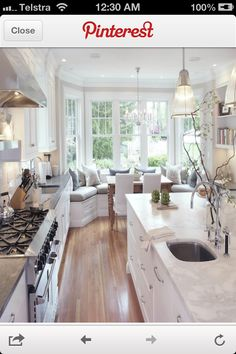 Breakfast area with the Southern Living Farmhouse Revival plan