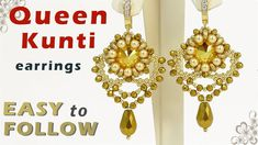 "Earrings ""Queen Kunti"" with 14 mm rivolis tutoial"