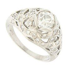 Antique Style Platinum Diamond Engagement Ring. Repinned by one of WorthPoint's favorite pinners!