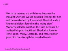 Sherlock Head Canon. Not really my head canon, but this is sweet.