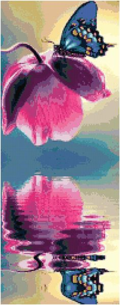 Cross Stitch Pattern Blue Butterfly and by theelegantstitchery