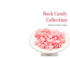 Buy Pink Strawberry Hearts Rock Candy 1 kg-$26 delivery 10