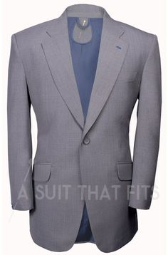 Light Grey Première Two Piece Suit with a navy lining.