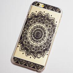 Black Henna Aztec Mandala iPhone 6 / 6S Transparent Hard Case