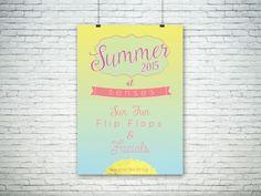 Beauty Salon Summer 2015 #Poster #Design - © Kieran Harrod Design #graphicdesign