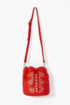 Golden Triangle Bucket Bag - Poppy