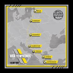 Gumball 3000 Rallye (2017): Strecke   autozeitung.de Gumball 3000, Auto News, Mykonos, Rigs, Map, Instagram Posts, Technology, Rally, Automobile