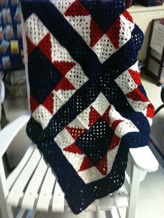 All American Granny Square Afghan