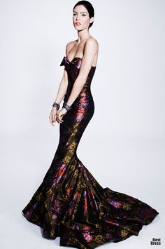 http://www.fashion2dream.com/#!fashion-video/c1zvd  Zac Posen 2013 my heart aches for this dress!!! Seriously would look amazing in emerald green or royal blue..... Ooooooooh I wish I was this thin to wear it and actually look good <3