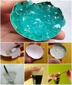 Géode cristalline maison. 16 expériences scientifiques rigolotes à faire avec les enfants