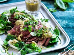 Feed the family with this fresh and zingy beef and cashew nam jim with Asian greens.