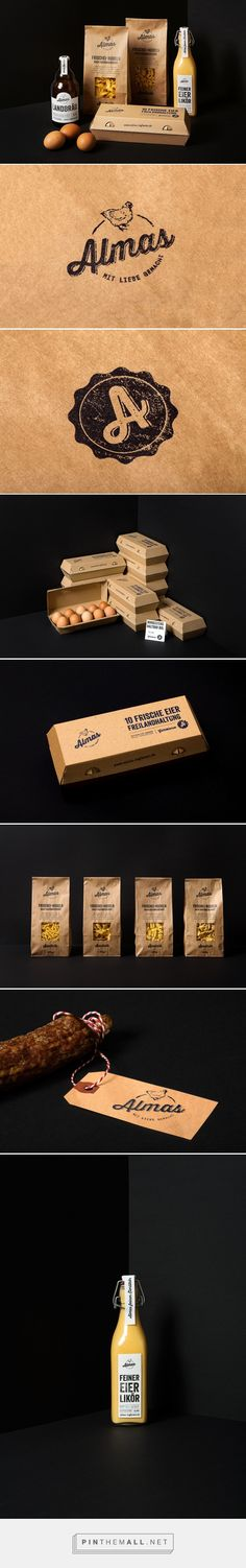 Almas farm products by Bräutigam & Rotermund Designstudio. Source: Bechance. Pin curated by #SFields99 #packaging #design #inspiration #ideas #branding #farmproducts #products #Bräutigam&RotermundDesignstudio