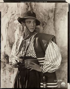 Portrait of Rudolph Valentino from A Sainted Devil.