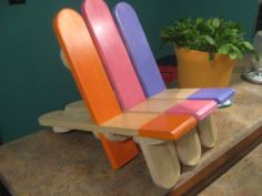 Toddler Child's Popsicle Chair Deck Chair