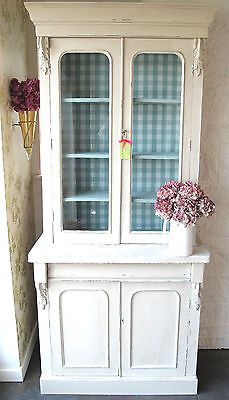 ~Vintage/Antique Glass DisplayCabinet/Dresser aged French Shabby Chic style' ~ Good for putting girls reading books in.