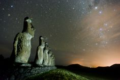 The Moai statues of Easter Island. Photo by Ben Leshchinsky.