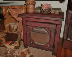 Primitive Table Top Pie Safe by salmonfallsprims on Etsy, $79.00