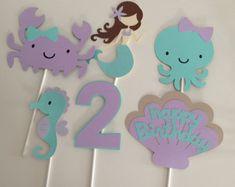 Mermaid party napkin rings printable Mermaid por MagicPartyDesigns