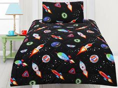 Space Cadets Comforter Set and more space bedding available at Kids Bedding Dreams Bedroom Accessories, Bed Sizes, Comforter Sets, Kids Bedroom, Your Child, Baby Car Seats, Comforters, Dreams, Space