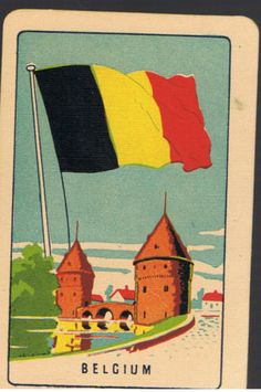 Playing-Swap-Cards-1-VINT-COLES-1ST-SERIES-NMD-FLAGS-BELGIUM-K90