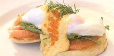 Eggs Benedict with Salmon & Rocket