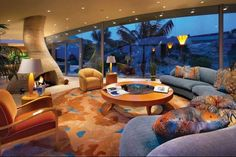 Not sure about that carpet but I love the design and the view