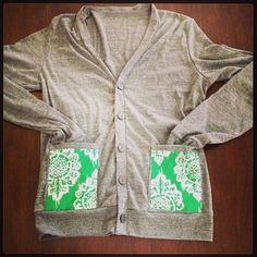 pocket design cardigan. create your own! 402.421.0125