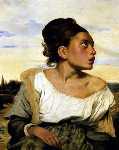 "Eugene Delacroix'in ""The Orphan Girl at the Cemetery"""
