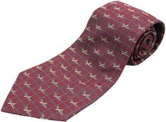 B-52 Stratofortress Silk Tie - Burgundy
