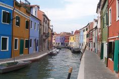 Island of Borano, Venice, Italy...  what color would you paint your house?