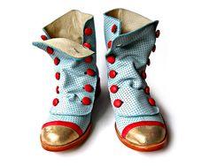 Mamba Celeste - licht blauw lederen laarzen - handgemaakt in Argentinië - Gratis verzending