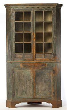Lot # : 274 - Roanoke River Basin Chippendale Painted Cupboard