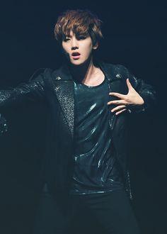 EXO's Baekhyun showing his dark mysterious side.