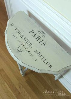 Thrifty Makeover with MMS Milk Paint - top after - artsychicksrule #milkpaint #mmsmilkpaint