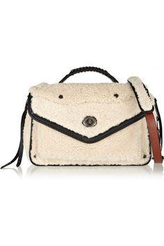 a40f4fd8be Coach - Rhyder leather-trimmed shearling shoulder bag
