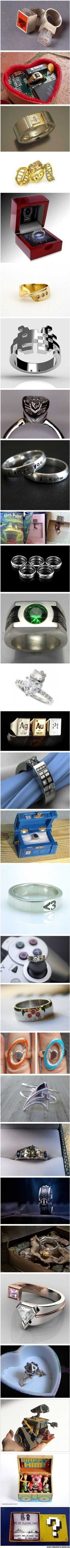 ♥ the Tardis engraved ring and Mario Proposal ~ Insanely geeky (wedding) rings  How could you say no