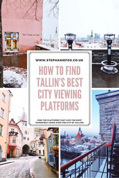 There are some incredible city views of Tallinn, Estonia from some of the city viewing platforms. The famous 'The Times we had' wall art is one of them. This guide will help you find all the viewing platforms of Tallinn, and when is best to visit them. Tallinn old town | Tallinn travel tips | best views in Tallinn #tallinn #tallinnestonia #tallinnwinter #estoniatraveltips Hiking Europe, Road Trip Europe, Places In Europe, Europe Travel Guide, Travel Destinations, Estonia Travel, Best Cities, European Travel, Nice View
