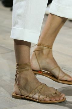 the perfect lace up sandal by Michael Kors (and of course it s in camel)  Slideshow  The Statement Shoes of Spring 2015 61319ad332a