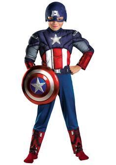 Enfant Avengers Captain America Muscle Costume disfraces halloween super-hé Superhero Costumes For Boys, Avengers Costumes, Superhero Halloween, Boy Costumes, Super Hero Costumes, Halloween Kids, Superhero Cosplay, Halloween 2016, Movie Costumes