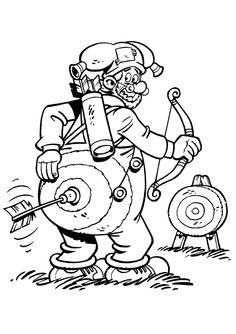 Plop The Gnome Fargelegging for barn. Tegninger for utskrift og fargelegging nº 4