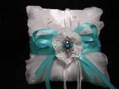 Tiffany blue flower girl basket setTiffany blue by AngelicasBridal, $120.00