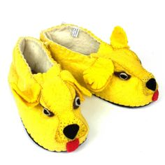 Golden Retreiver Slippers Adult Medium - Fair Trade - #shopfairtrade #fairtrade #thisbluesea #footwear #women #felted #booties #slippers #Apparel #shoes #men #felt #boots  These adult slippers are stitched into amazing animals; making for a one-of-a-kind unique slipper. The soles are 100% rubber, and the uppers are 100% sheep's wool. Medium size fits Women's 7-8 or Men's 6-7  Meet the Artisans  The Silk Road Bazaar Silk Road Bazaar is a wholesale representative of marginalized artist groups…