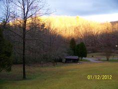 Wintery evening sunset...