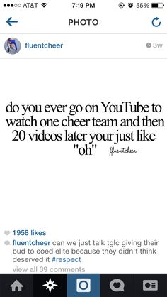 This is my life story. Haha #fluentcheer