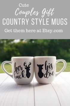 I came across these cute country style mugs. I love that it's a his and her gift. Such a perfect idea for valentines day, or anniversary, or even wedding gifts. So sweet. #affiliate #country #gifts #valentinesday #anniversary #couples #weddings #coffee