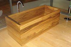Wood Bath Tubs : Ofuro Soaking Tubs & Hinoki Soaking Tubs at RHTubs Tub Shower Combo, Shower Tub, Japanese Soaking Tubs, Outdoor Tub, Wooden Bath, Wood Bathroom, Creative Home, Wooden Boxes, Home Goods