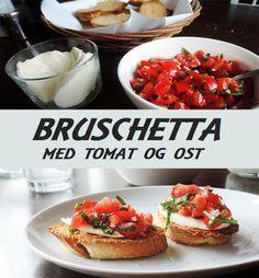 Fantastisk italiensk forret, der kombinerer sprøde skiver brød med saftige tomater og blød ost.