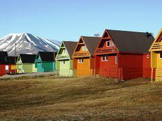 Houses in Svalbard, Norway