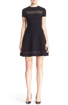 RED Valentino Daisy Macramé Fit & Flare Dress available at #Nordstrom